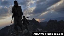 شورشیان جدایی طلب حزب کارگران کردستان در کوههای قندیل در نزدیکی مرز ایران و عراق سنگر گرفته اند