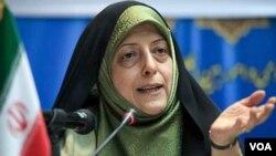معصومه ابتکار رئیس سازمان حفاظت محیط زیست