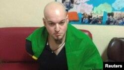 Luca Traini, usia 28 tahun, terlihat di Macerata, Italia (3/2).