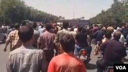 د اصفهان په شاپور جدید کې مظاهره