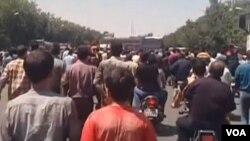 1일 이란 중부도시 이스파한에서 물가 폭등에 항의하는 시민들의 시위가 벌어졌다.