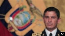 ປະທານາທິບໍດີເອກົວດໍ ທ່ານ Rafael Correa ຖະແຫຼງລະຫວ່າງ ການພົບປະ ກັບລັດຖະມົນຕີ ຕ່າງປະເທດ ຂອງບັນດາປະເທດ ໃນ ອະເມຣິກາໃຕ້ ທີທຳນຽບ ລັດຖະບານ ໃນນະຄອນຫຼວງກີໂຕ້ (1 ຕຸລາ 2010)