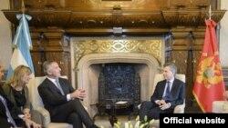 Predsjednik Vlade Crne Gore Milo Đukanović sastao se sa predsjednikom Argentine Maurisijom Makrijem (Autor Služba za odnose s javnošću)