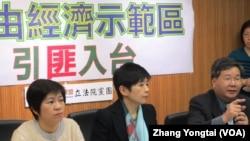 台灣在野的台聯黨立法院黨團就中國投資問題召開記者會