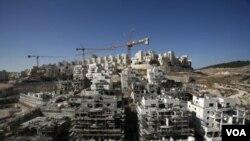 """Komplek permukiman Yahudi """"Har Homa"""" di Yerusalem. Palestina mengatakan pembangunan permukiman ini tidak sah."""