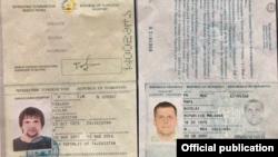 Сканы поддельных паспортов предполагаемых офицеров ГРУ, подозреваемых к причастности к взрывам в Чехии
