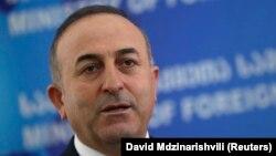 Mevlut Cavusoglu, le ministre des affaires étrangères de Turquie le 17 février 2016.