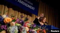 Маргарет Талев выступает на ужине Ассоциации корреспондентов Белого дома. 28 апреля 2018 года.