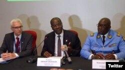 La cérémonie de lancement de la phase 3 du Système d'Information Policière pour l'Afrique de l'ouest (SIPAO), à Abidjan, le 25 juin 2018. (Twitter/Police national CI)