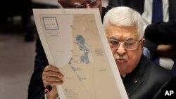 Le président palestinien Mahmoud Abbas s'exprime lors d'une réunion du Conseil de sécurité au siège des Nations Unies, le 11 février 2020.
