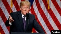 Le président Donald Trump à Washington, 18 décembre 2017.