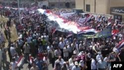 Sirijski pro-vladini demonstranti, 18. juli, 2011.