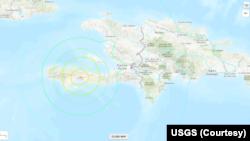 Earthquake at Saint-Louis du Sud, Haiti