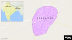Bản đồ Kokrajhar, Ấn Độ.