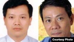 Hai nhà tranh đấu cho dân chủ: Bác sĩ Phạm Hồng Sơn và luật sư nhân quyền Nguyễn Văn Đài.