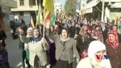 Kurdên li Helebê Êrîşên Ser Efrînê Şermezar Dikin