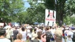 全美數以萬計示威者抗議非法移民兒童與家人分離