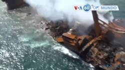 Manchetes mundo 3 Junho: Sri Lanka tenta evitar potencial desastre ambiental devido a afundamento de navio de contentores