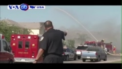 Máy bay phản lực Harrier đâm xuống khu dân cư miền nam California