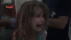کچە منداڵێـکی سوری لە شارۆچکەی تەلبیسەی پارێزگای حومس بە بۆردومانەکانی حکومەت برینداربووە