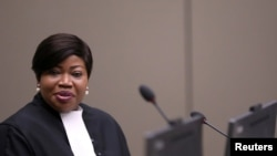 资料照片:国际刑事法院首席检察官本苏达在海牙的法庭上。(2019年7月8日)