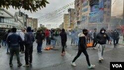 Aksi demonstrasi anti-pemerintah di Teheran, Iran (foto: dok).