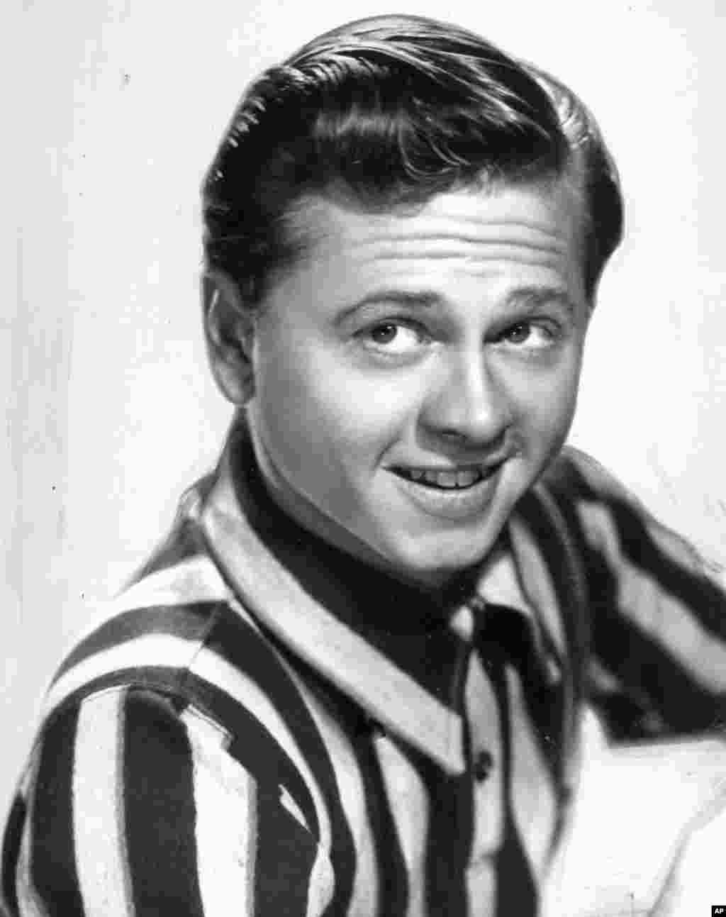 Actor, singer and dancer, Mickey Rooney, is shown in this undated photo.