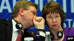 Avropa Birliyinin Xarici Siyasət üzrə Yüksək Səviyyəli Təmsilçisi Catherine Ashton və Birliyin Genişlənmə və Qonşuluq Siyasəti üzrə Komissarı Štefan Füle