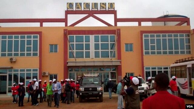 Estação dos caminhos ferro em Cacuso, província de Malanje (VOA/Isaías Soares)