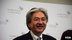 香港特首選舉候選人曾俊華。(美國之音湯惠芸)