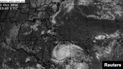 美國太空總署(NASA)人造衛星監控颱風情況。