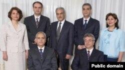 """رهبران جامعه بهایی ایران که به اتهام """"جاسوسی برای اسرائیل"""" هر یک به ۲۰ سال زندان محکوم شدهاند. فریبا کمالآبادی نفر سمت چپ است."""