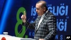 Prezident Erdog'an Istanbulda so'zlamoqda. 8-may, 2016-yil.