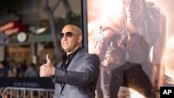 """El actor Vin Diesel en el estreno de """"Riddick"""" en Los Angeles."""