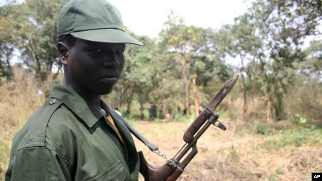 FILE - A Sudan People's Liberation Army soldier.