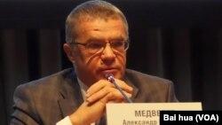 天然氣工業公司副總裁亞歷山大-梅德韋杰夫。(美國之音白樺拍攝)