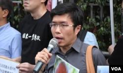 香港立法會議員區諾軒。(美國之音湯惠芸)