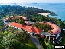6월 12일 미북정상회담이 열리는 싱가포르 센토사 섬의 카펠라 호텔.