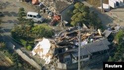 2016年4月15日日本南部地震引起房屋倒塌