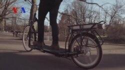 Bike and Treadmill Merged to Create a Walk on Wheels