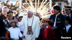 教宗方济各到访玻利维亚