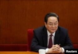 中国政协主席俞正声在政协会议上(2013年3月11日)