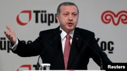 FILE - The government of President Recep Tayyip Erdogan has invoked legislation dating from the 1980 military coup to halt a nationwide metal workers strike.
