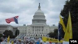 Los manifestantes viajaron de varios estados, incluyendo Texas, Ohio y Tennessee.
