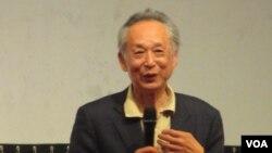 首位诺贝尔文学奖华人得主高行健(美国之音张永泰拍摄)