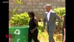 Rais wa zamani wa Marekani, Barack Obama, amewasili katika kijiji cha Kogello nchini Kenya