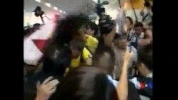 2014-09-02 美國之音視頻新聞: 香港警方逮捕民主派活動人士