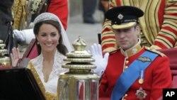 Hoàng tử Anh William cưới cô Kate Middleton vào ngày 29/4/2011 tại London trong 1 buổi lễ được khoảng 2 triệu khán giả trên toàn thế giới theo dõi