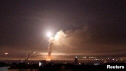 Explosion à Damas, Syrie, le 10 mai 2018.