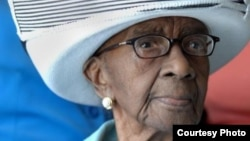 年紀最大的美國人、美國南卡羅來納州的老婦瑪米.里爾登 (Gerontology Research Group website)